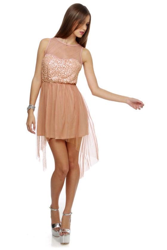 Margot Fonteyn Dusty Rose Sequin Dress