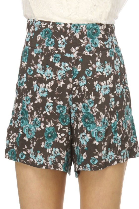 Lucy Love Mint Julep Floral Shorts