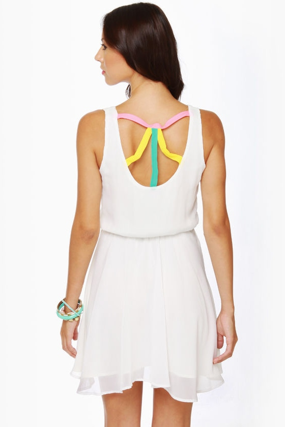 Lucy Love Monique Ivory Dress at Lulus.com!