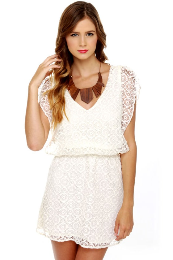 Lucy Love Lace Villa White Lace Dress at Lulus.com!