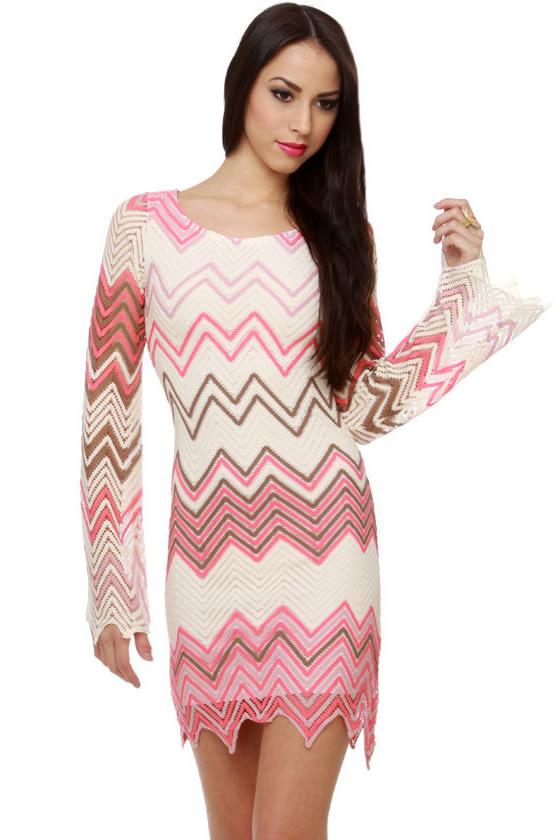 Yucatan Peninsula Zigzag Print Dress
