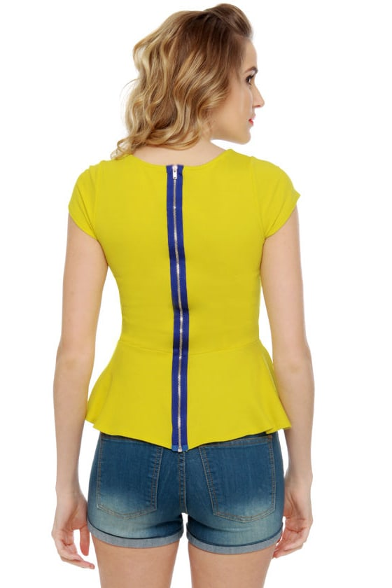 School Spirit Bright Yellow Top