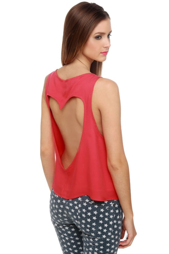 Heart Core Coral Red Top