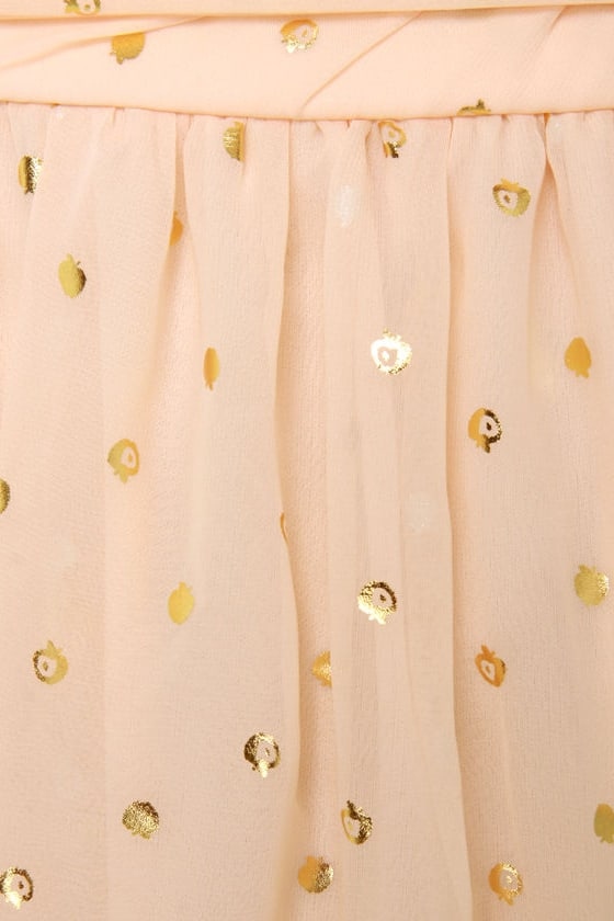 Golden Apples of the Sun Strapless Peach Dress at Lulus.com!