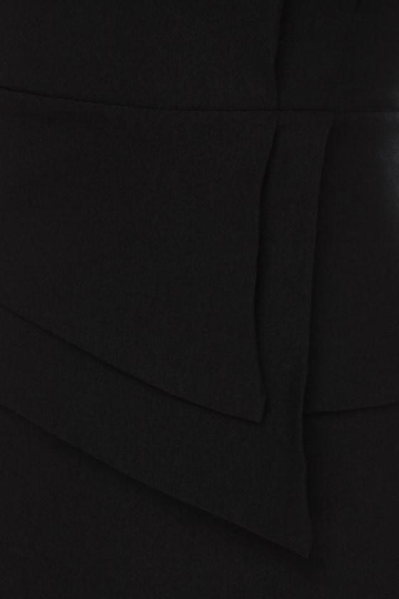 Polite to Point Strapless Black Dress