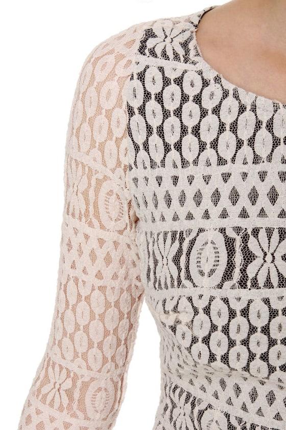 Mercury Rising Ivory Lace Dress