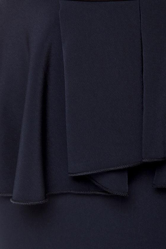 Scene It Navy Blue Color Block Dress