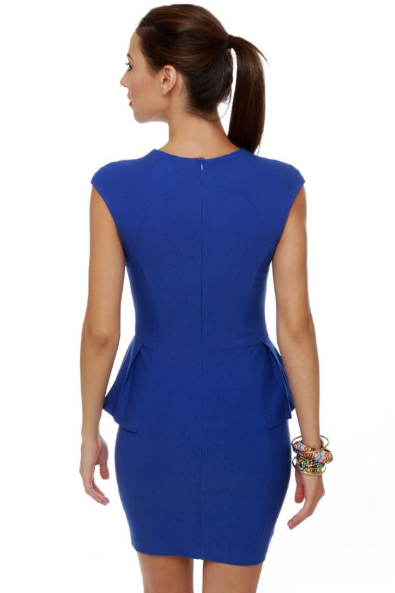 Figure It Out Royal Blue Dress