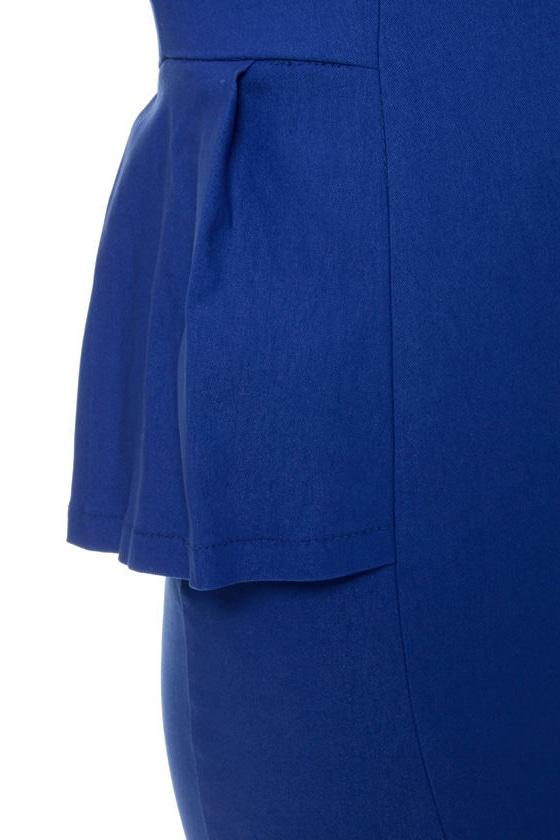 Figure It Out Royal Blue Dress