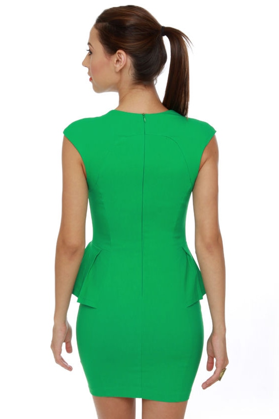 Figure It Out Kelly Green Dress