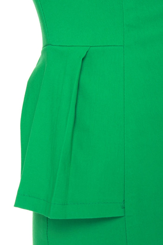Figure It Out Kelly Green Dress at Lulus.com!