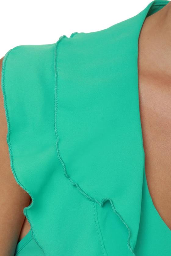 Ocean View Turquoise Halter Dress