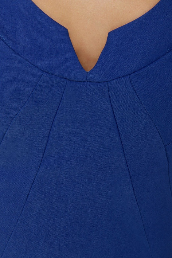 Notch-ing Compares to You Royal Blue Dress at Lulus.com!