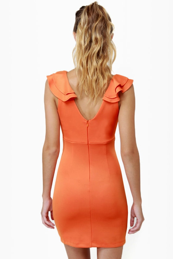 Frillseeker Orange Dress
