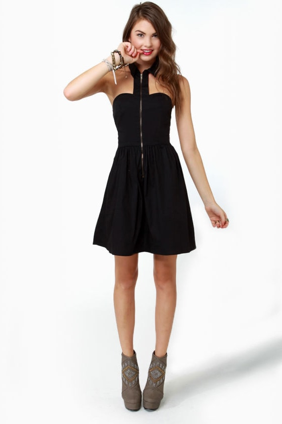 The Good Zip Lollipop Black Dress