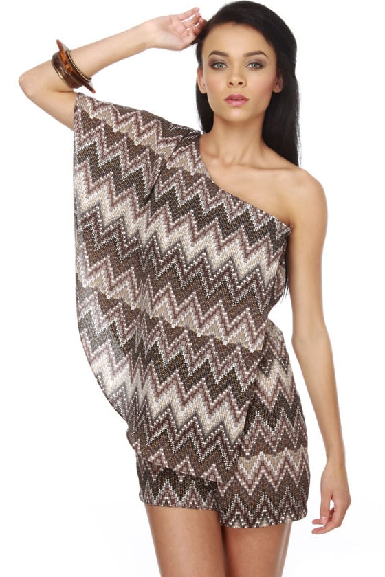 Mosaic Maker One Shoulder Romper