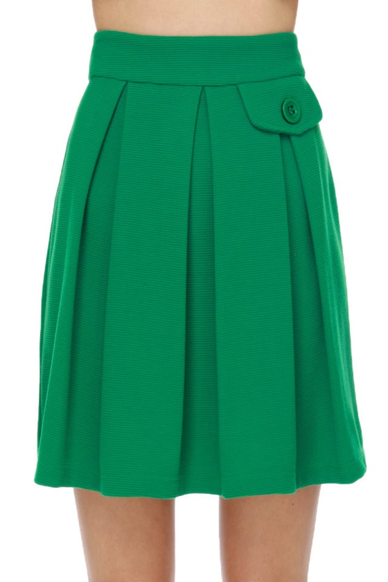 Looking Swell Green Skirt
