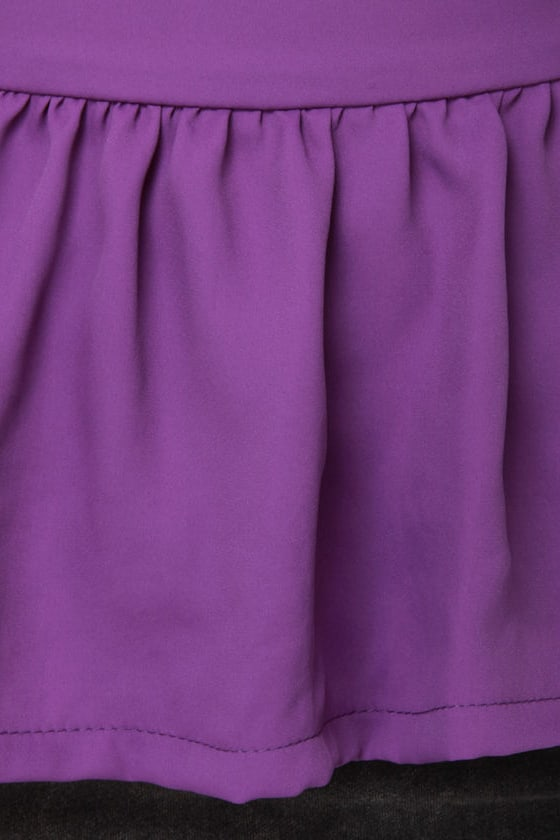 About a Twirl Purple Top