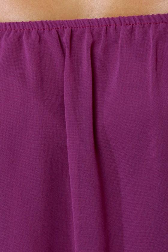 Landslide Off-the-Shoulder Purple Top