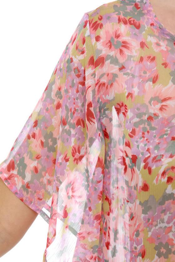 Garden View Floral Print Top