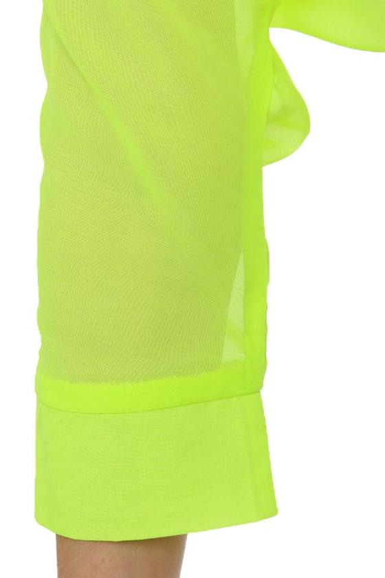 Weird Science Neon Yellow Top