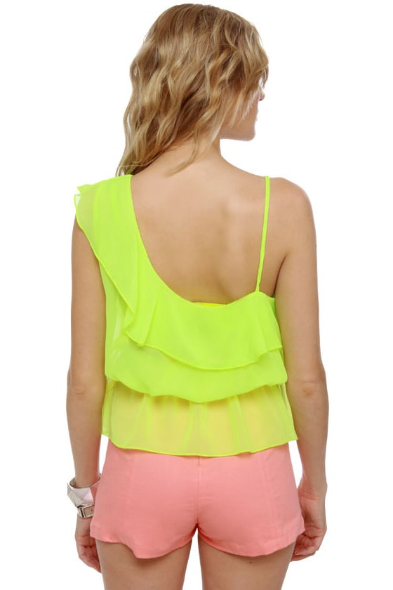 Citric Acid Sheer Neon Lime Top at Lulus.com!