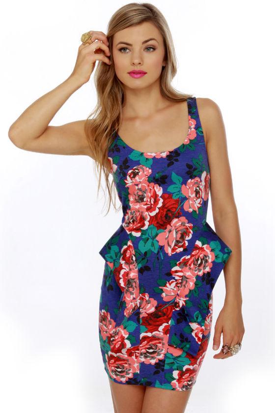 Baby Bloomer Blue Floral Print Dress