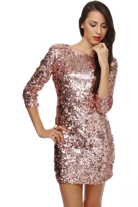 Sassy Sequin Dress Pink Dress Party Dress 85 00