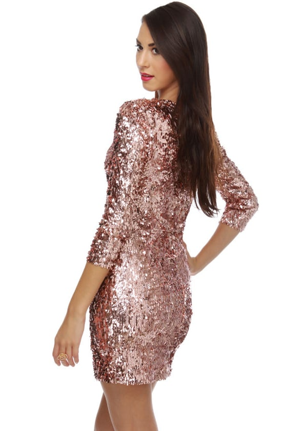 Rubber Ducky Sequin-dy City Pink Sequin Dress
