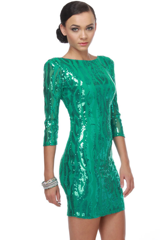 Rubber Ducky Under the Sea-quin Teal Sequin Dress