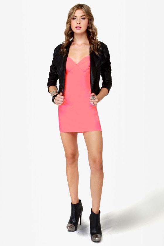 49be10be7a9 Rubber Ducky Dress - Neon Pink Dress - Hot Pink Dress -  58.00