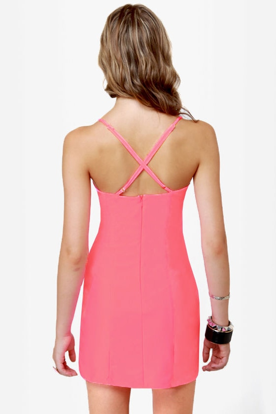 Rubber Ducky Hot Attack Neon Pink Dress