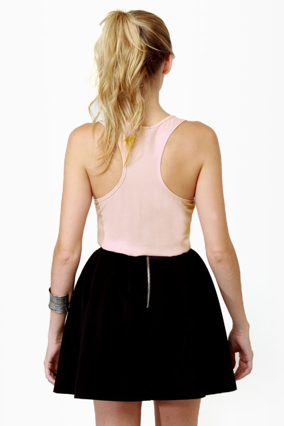 Side of Sequins Pink Tank Top