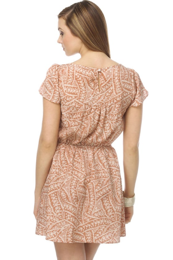 Peach Smoothie Floral Dress