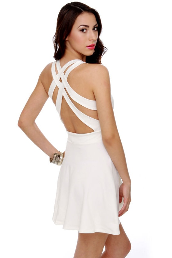 Call Me Baby Ivory Dress at Lulus.com!