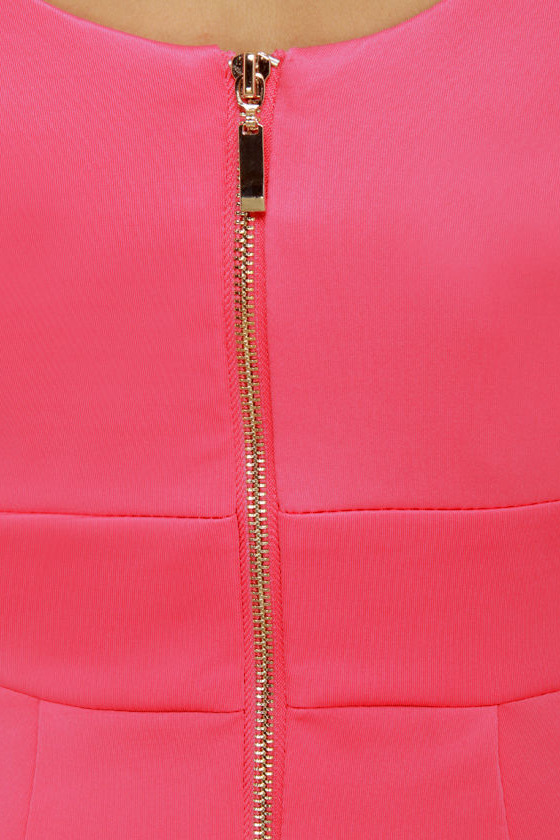 Wear-withal Coral Pink Dress at Lulus.com!