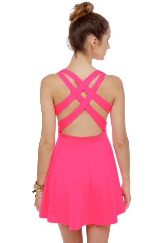 Call Me Baby Neon Pink Dress at Lulus.com!