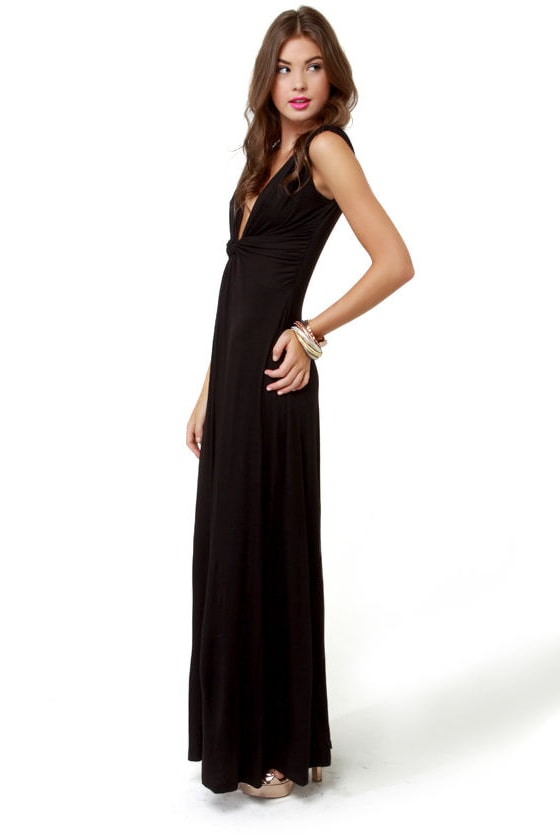 Grand Central Sensation Black Maxi Dress at Lulus.com!