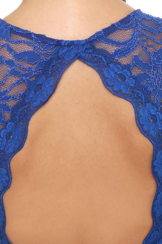 Cabaret Royal Blue Lace Dress