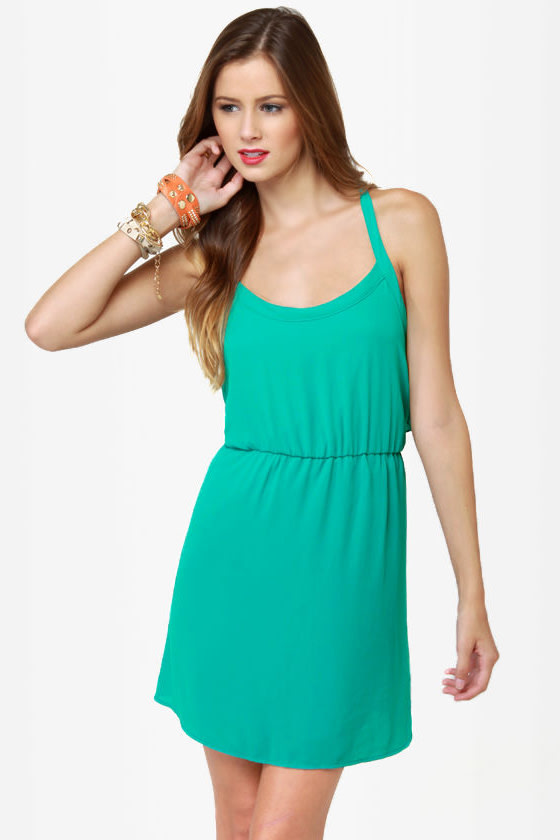 Ruffle Rendezvous Teal Ruffle Dress at Lulus.com!