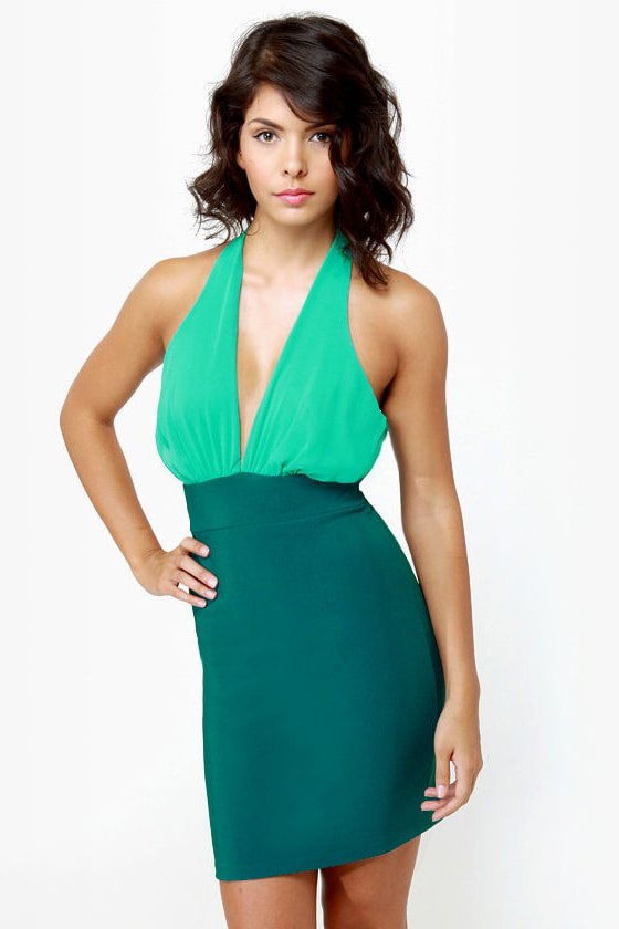 A-List Twist Teal Dress at Lulus.com!