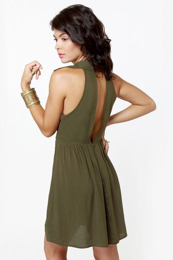 Sherwood Forest Olive Green Dress at Lulus.com!