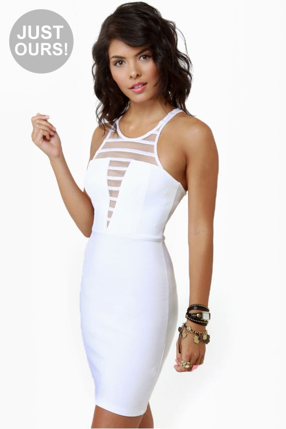 V-easy Does It White Dress