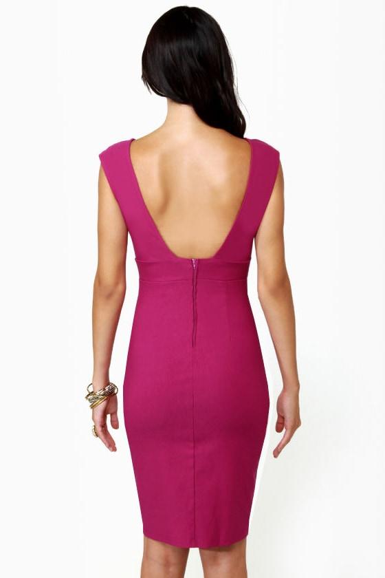 Midi City Magenta Dress