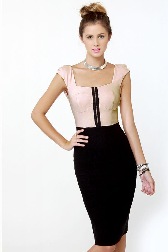 Movie Palace Black and Pink Dress