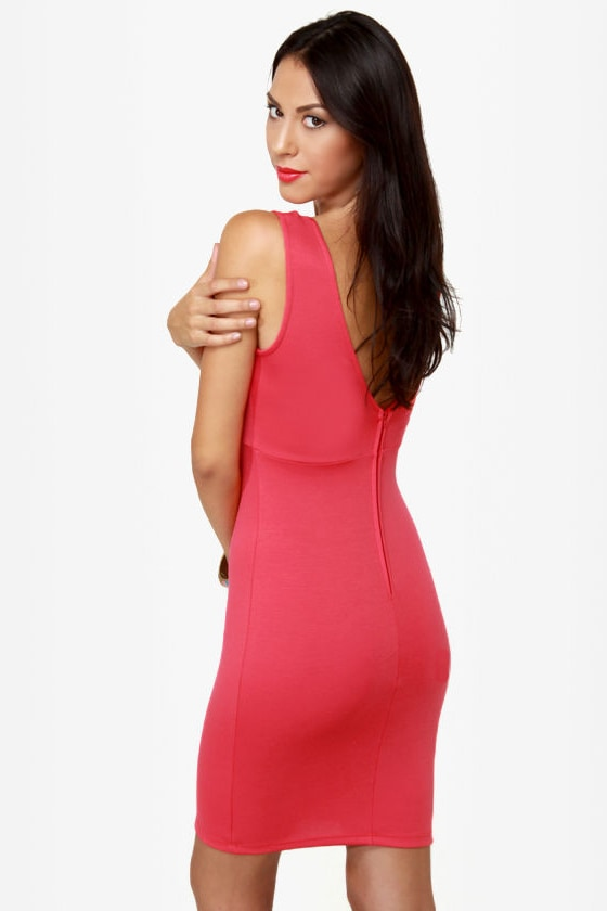 LULUS Exclusive True Calling Coral Pink Dress at Lulus.com!