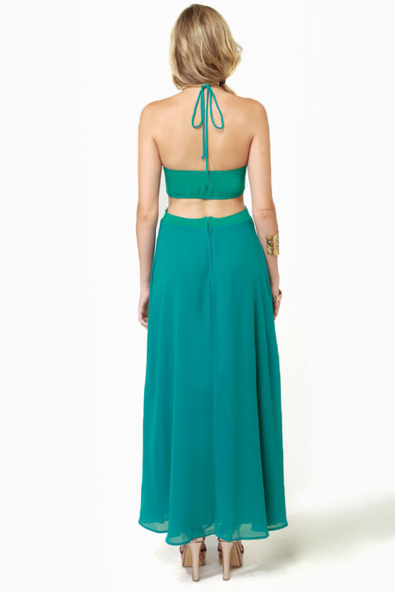 Long Division Teal Maxi Dress at Lulus.com!