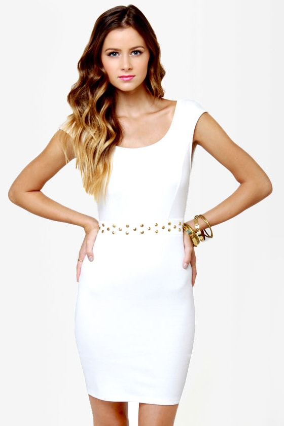 LULUS Exclusive Rock Studdy Ivory Dress at Lulus.com!