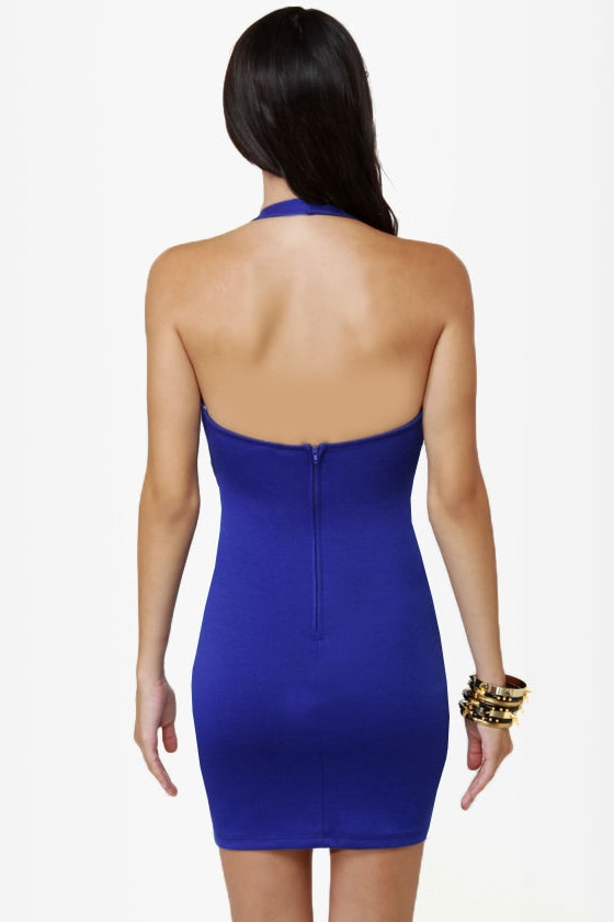 LULUS Exclusive Breakbeats Blue Halter Dress at Lulus.com!