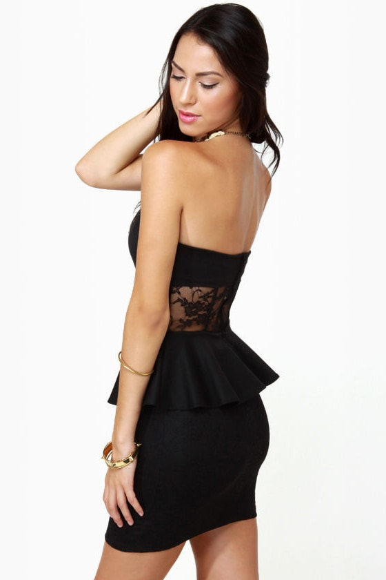 Center of Gravity Black Lace Dress